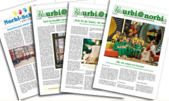 Ausgaben der Schulzeitung urbi@norbi